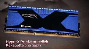 Eşleşen siyah PCB'li HyperX black Bellek
