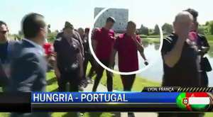Cristiano Ronaldo Gets Mad And Throws Reporter's Microphone Into Lake