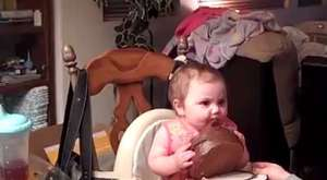 Amazing Baby Eat Chocolate Cake