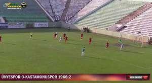 ÜNYESPOR:0-KASTAMONUSPOR 1966: 2