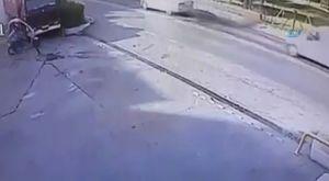 Genç kızın intiharı kamerada