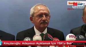 Kılıçdaroğlu: Adayımızı Açıklamak İçin YSK'yı Bekliyoruz