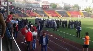 Pendikspor takım otobüsüne Malatya'da taşlı saldırı