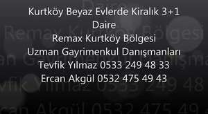 Remax Tevfik ten Kurtköy de Eşyalı Kiralık 1+1 Bahçe Kullanımlı Daire..