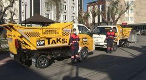 Akdeniz belediyesi çöp taksi uygulaması