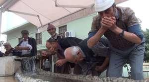 gazipasa cami şadırvanı taştı