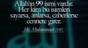 ESMA ÜL HÜSNA Allah'ın 99 ismi