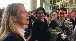 Akhisar Mustafa Kirazoğlu Devletlet Hastanesine bağlı ATSO Toplum Ruh Sağlığı Merkezi el işi sergi açılışı
