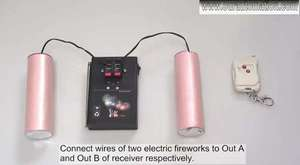 Wireless Remote Control Firework Ignitor System for launching 2 Electric ignitors