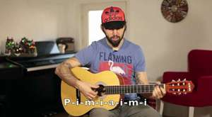 Guitar Lesson for beginners  - how to Play guitar and Sing a Song (eng. subtitled)