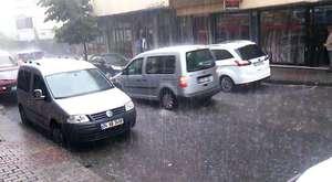 istanbul da dolu ve yağmur vardı